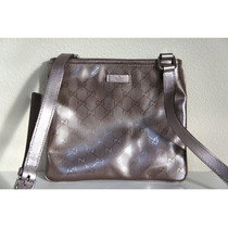 Bolso De Mano Gucci Metallic Lavander Leather Original
