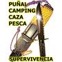 Puñal Grande Buen Filo Estuche Y Extras Caza Pesca Y Camping