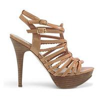 Zapatos Sandalias Taco Madera Plataforma Guess 6 36 Stock