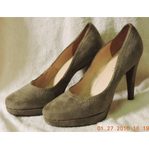 Zapatos Mazzarri Mujer, Gamuza. Talla 39, Taco 9