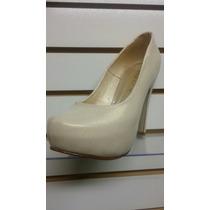 Calzado Zapato Fino Modelo Reyna Taco 12 Plataforma Interna.