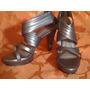Sandalias Mujer Color Plata Negro Talla 37 De Milano Bags