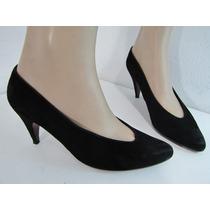 Zapatos Evan-picone Gamuza Negra Talla 38 Envío Gratis¡¡