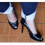 Zapatos Basement Punta Abierta Cuero Talla 36 Buen Estado