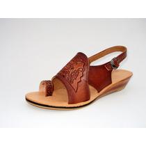 Sandalia Sandalias Calzado De Cuero Made In Peru