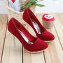 Pareja Mujer Madre Sexy, Zapato Escarchados 36 Rojo Seductor