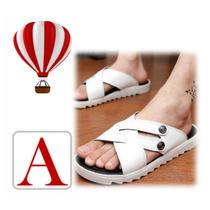 Calzado Hombre Sandalias Playeras Cuero Amazing
