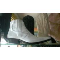 Botines Charol Blancos Hombre Zapatos Botas Cuero Calzado
