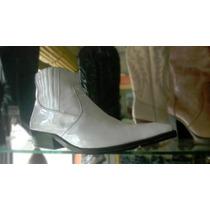 Botines Blancos Charol Hombre Zapatos Botas Calzado Cuero