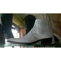 Botines Blancos Charol Hombre Zapatos Botas Cuero Calzado