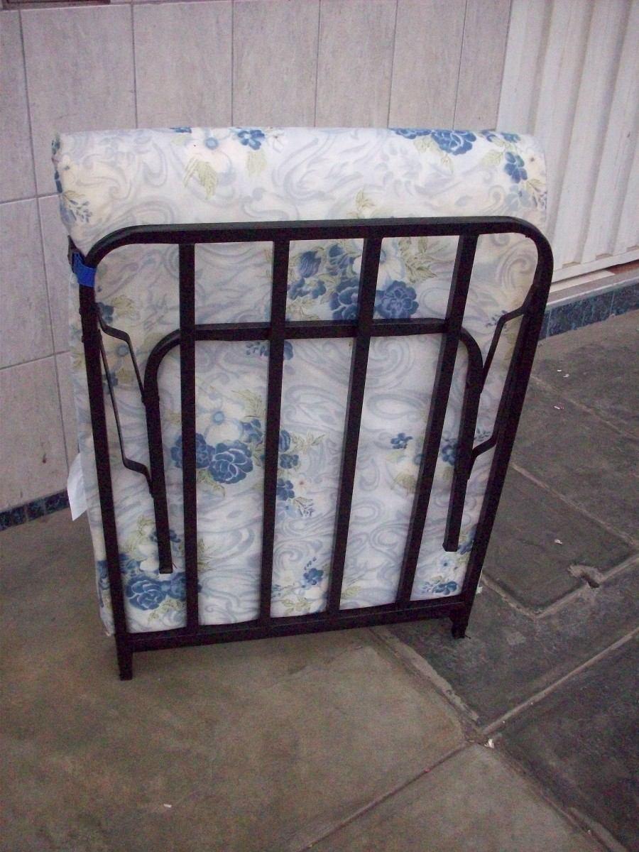 cama plegable 1 plaza con colchon s 115 00 en mercadolibre