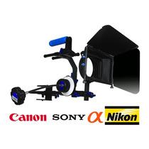 Montura Matte Box Follow Focus Canon T3i T4i 60d 7d 5d Nikon