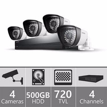 Kit Video Vigilancia Samsung Seguridad Dvr 2 Camaras 500gb