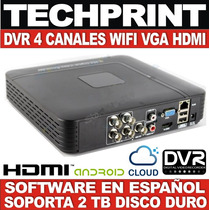 Dvr 4 Canales Salida Vga Hdmi Red Wifi Celular Soporta 2 Tb