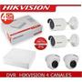 Camaras De Seguridad Kit Hikvision 4 Camaras + Dvr Cctv