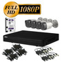 Kit Cctv 4 Camaras Full Hd1080p Dahua Dvr P2p Disco1tb