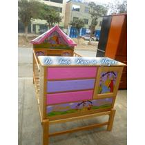 Cama Cuna Plaza 1.5 Para Niñas