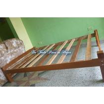 Tarima Dos Plazas (madera Tornillo) + 01 Almohada De Regal
