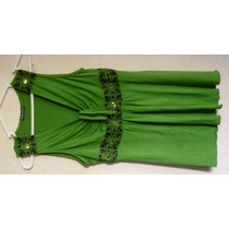 Blusa Fina De Algodón Licrado De Color Verde