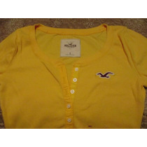 Polo Manga 3/4 Damas Hollister Talla Small