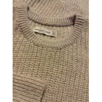 Chompa Sweater Brillos Abercrombie Mediano Large Mujer