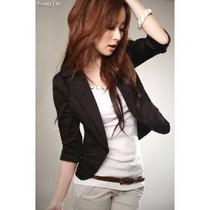 Blazer Moda Coreana En Stock Color Blanco