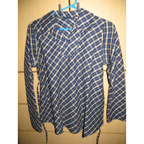 Blusa O Camisa De Franela Materna Usada Talla 30