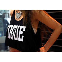 Crop Top Vogue Printed Importado Talla S/m Avance Temporada