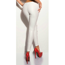 Leggins Latex Mate Negro, Blanco Y Guinda
