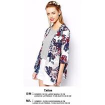 Kimono Bluson Flores Blusa Mujer Importado