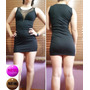 Vestido Fiesta Sexy Dress Negro Strech Talla S/m