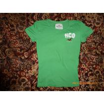 Hollister Polito Verde Con Aplicacion Talla S 100% Original
