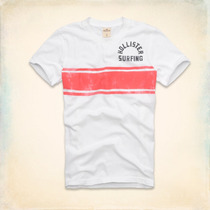 Polo Hollister Mountain Road Beach - Blanco Talla L