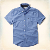 Hollister Camisas Manga Esposada Azul Y Navy Traido De Eeuu