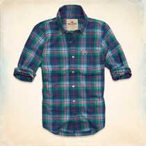 Camisa Hollister - Santa Monica - Escocés Talla M