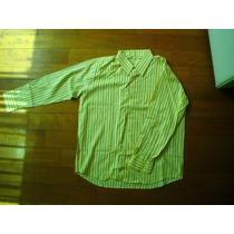 2 Camisas Sport Elegante Manga Larga Talla L Xl Remato