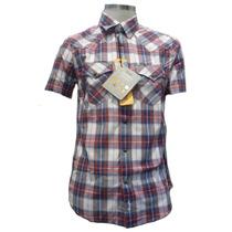 Camisas Wrangler 2 Bolsillos A Cuadros