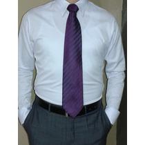 Camisa Blanca Slim Fit Entallada Algodón Strech S - M - L