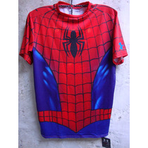 Polos Under Armour Compression Originales Etiq Marvel I Dc