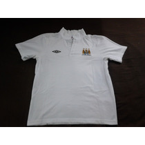 Polo Umbro Manchester City Blanco Talla M