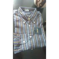 Camisa Manga Larga Nautica Original Talla M Nueva Polo Ropa