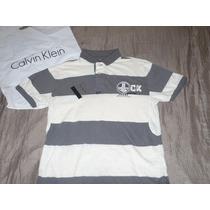 Camisero-4 Calvin Klein A Rayas : Talla S