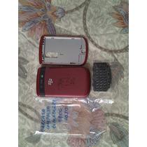Stock Carcasa Cover Blackberry 9800 Torch Rojo