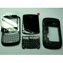 Carcasa Blackberry 8520 Original Completa Negro/blanco/lila