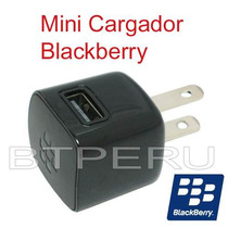 Mini Cargador De Pared Original Blackberry Usb Adaptador