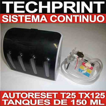 Sistema Continuo T25 Tx125 Tx135 De Lujo 600 Ml Autoreset