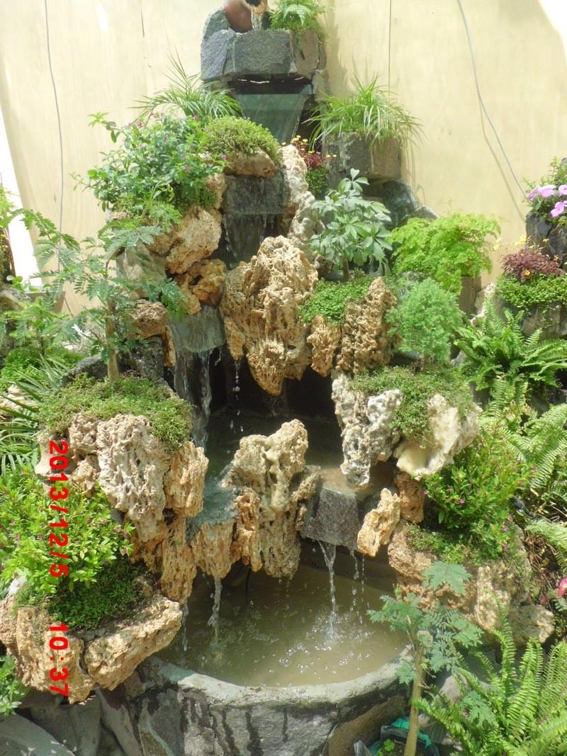 Pin cascada con piedra natural albero on pinterest for Cascadas en piedra para jardines