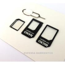 Adaptador Para Chip, Nano Sim Iphone5, Adap De Micro Sim