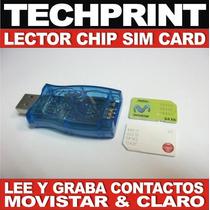 Lector Grabador Sim Card Movistar Claro Backup Datos Agenda