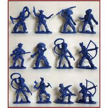 Dante42 Soldados Plastico Pack 12 Vaqueros Indios 1970